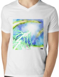 Multicolored Layers IV Mens V-Neck T-Shirt