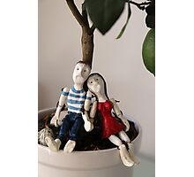 Paul and Mary resting under the lime tree Photographic Print