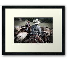 Riding herd Framed Print