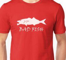 Bad Fish - Bluefish (White Image For Dark Backgrounds) Unisex T-Shirt