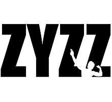 Zyzz Text Black Photographic Print