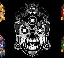Five Demons No Background by Artsworth