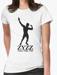 Zyzz silhouette Veni, Vidi, Vici Black Womens Fitted T-Shirt