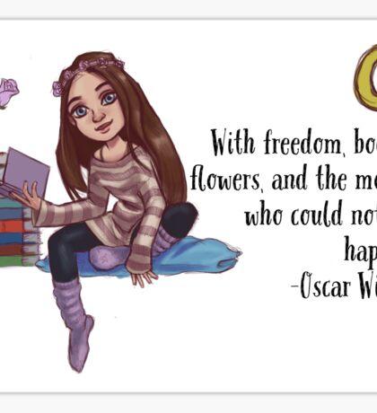Bookish girl Sticker