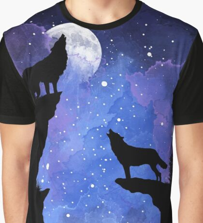 Night Wolves Graphic T-Shirt