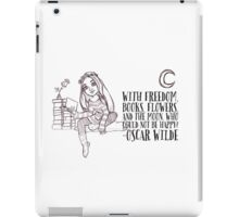 Bookish girl sketch iPad Case/Skin