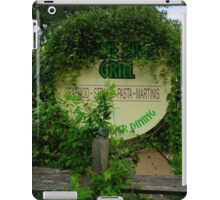 Overgrown Restaurant iPad Case/Skin