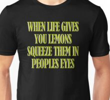 Life Lessons on Lemons Tshirt Funny Shirt Unisex T-Shirt