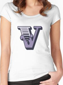 Alphabet letter V Women's Fitted Scoop T-Shirt