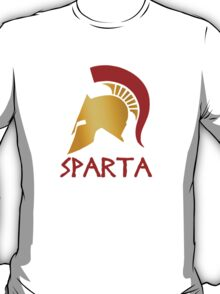 Gold and Red Spartan Helmet T-Shirt