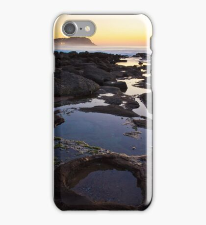Merewether Rockpools with view to Bar Beach iPhone Case/Skin