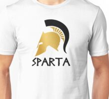 Gold and Black Spartan Helmet Unisex T-Shirt