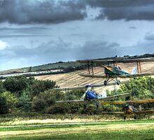 Tiger Moth Take Off by Nigel Bangert