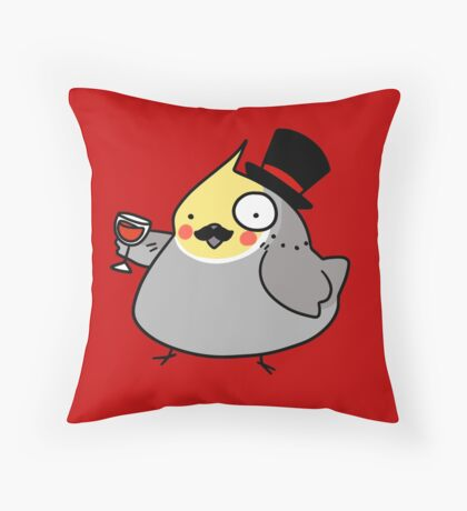 Dapper Cockatiel Throw Pillow