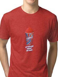 Heathers - JD Freeze Your Brain Slurpee Tri-blend T-Shirt