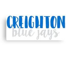 Creighton Blue Jays Canvas Print