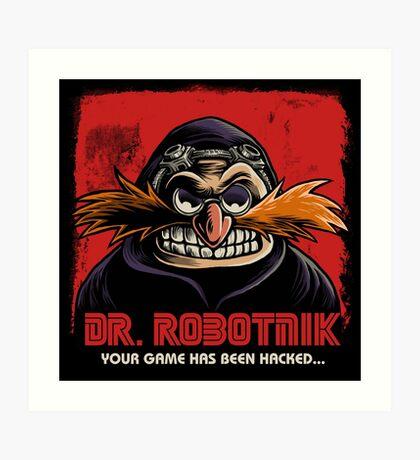 Mr Robotnik Art Print