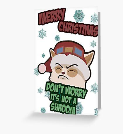 Christmas Teemo Greeting Card