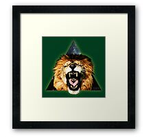 Lion Triangle Framed Print