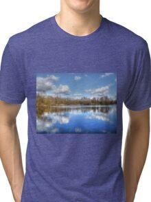 Lake Reflections HDR Tri-blend T-Shirt