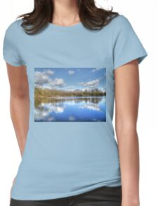 Lake Reflections HDR Womens Fitted T-Shirt
