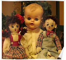 Three Old Dolls Poster