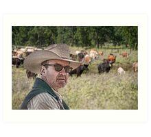 Gonna herd me some cattle Art Print