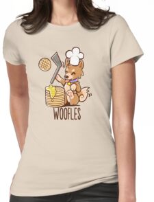 I'm making woofles Womens Fitted T-Shirt
