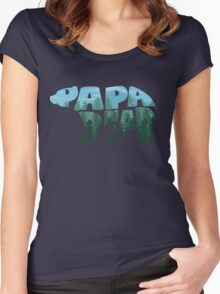 Papa Bear Women's Fitted Scoop T-Shirt