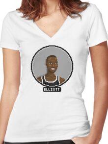 Sean Elliott - Spurs Women's Fitted V-Neck T-Shirt