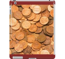 Pile of American pennies iPad Case/Skin