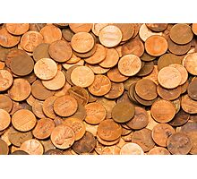 Pile of American pennies Photographic Print