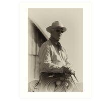 Vintage Texan Art Print
