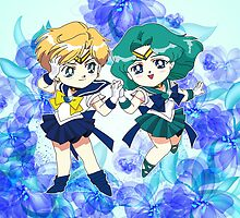 Sailor Uranus & Neptune by Rickykun
