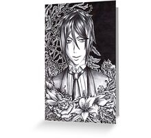 Black Butler : Sebastian Michaelis Greeting Card