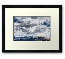 Clouds Over Glacier Point, Yosemite National Park, CA Framed Print