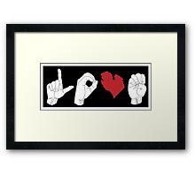 ASL - Michigan Love Framed Print