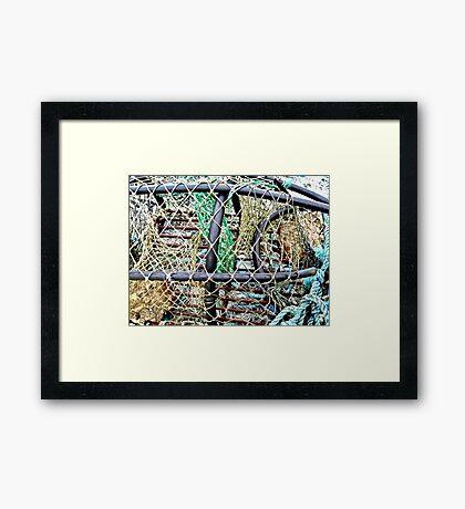 Old Nets and Lobster Pots, Mullaghmore, Sligo, Donegal, Ireland Framed Print