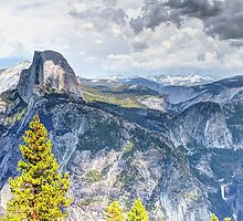 Half Dome from Glacier Point, Yosemite National Park, CA by Thomas Barber