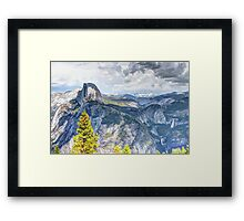 Half Dome from Glacier Point, Yosemite National Park, CA Framed Print