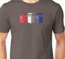Whovian red, white and blue Unisex T-Shirt