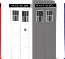 Whovian red, white and blue Sticker