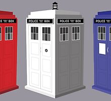Whovian red, white and blue by Bmused55