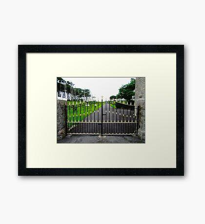The Gates of Classiebawn Castle, Mullaghmore, Sligo, Donegal, Ireland Framed Print