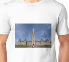 Center block of the Canadian Parliament - Ottawa, Ontario Unisex T-Shirt