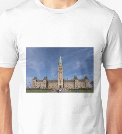 Center block of the Canadian Parliament - Ottawa, Ontario Unisex T-Shirt