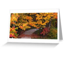 Golf course trail Greeting Card