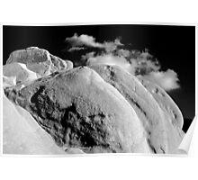 Desert Rock & Cloud, Joshua Tree Monument, CA Poster