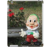 Happy Dwarf with Geraniums iPad Case/Skin