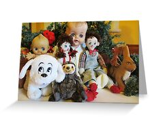 Group Photo of Old Characters at Christmas Greeting Card